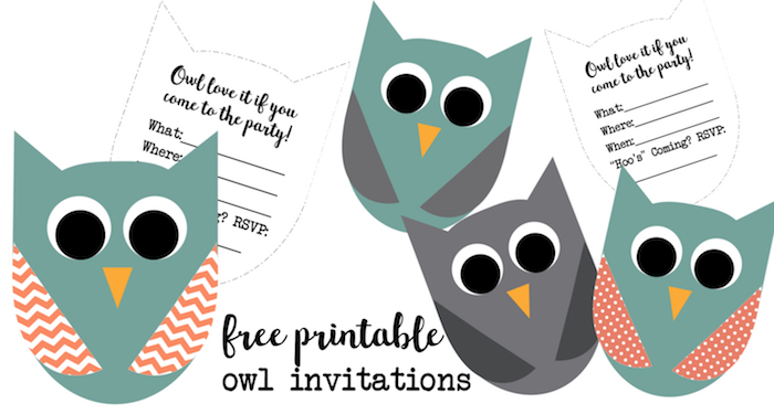 Free Printable Owl Invitations Paper Trail Design