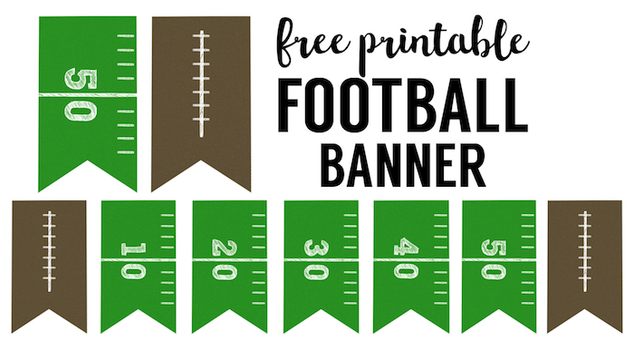 picture about Free Printable Football identify Soccer Banner No cost Printable Soccer Bash - Paper