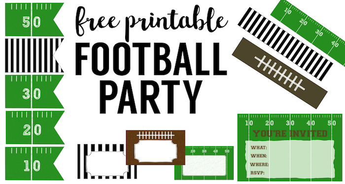 Free Printable Football Decorations {Football Party ...