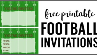 Football Party Invitation Template. Free Printable football invitations. Football party invites for a football birthday party, super bowl party, football themed baby shower, or team football party.