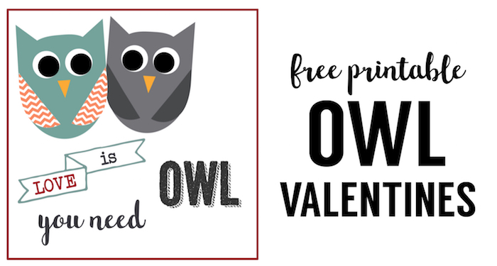 Free Printable Owl Valentine Cards. These free printable owl valentines are an easy DIY valentine to hand out. Owl you need is love valentine.