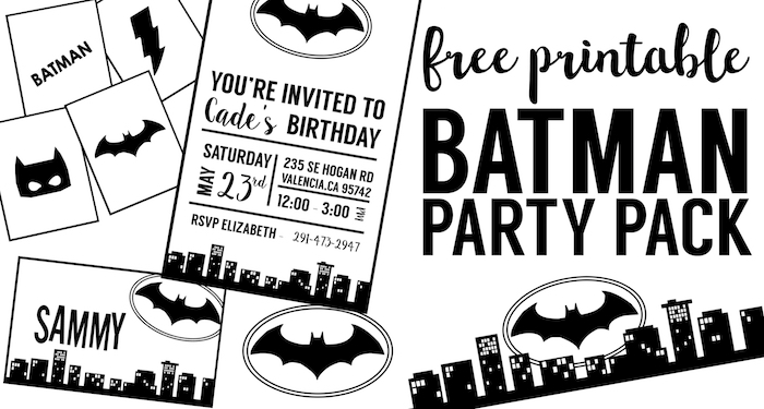 picture about Batman Printable named Free of charge Batman Occasion Printables - Paper Path Design and style