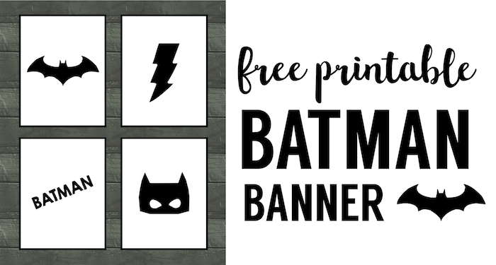 image about Batman Printable titled Batman Bash Banner Free of charge Printable - Paper Path Design and style