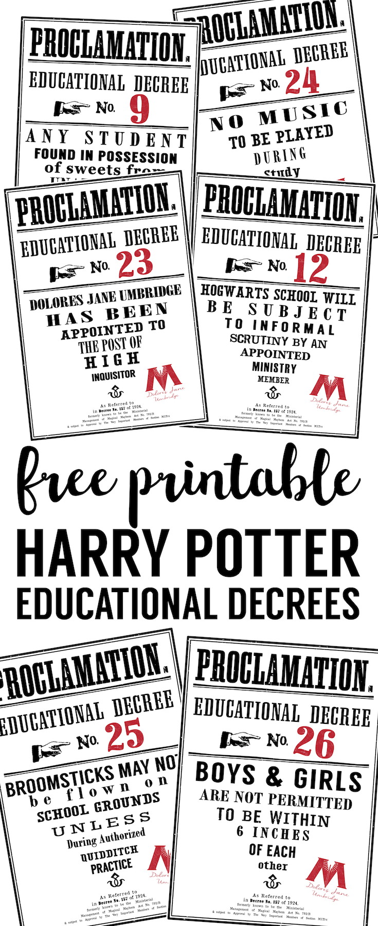 photo regarding Quibbler Printable titled Harry Potter Insightful Decrees totally free printables - Paper