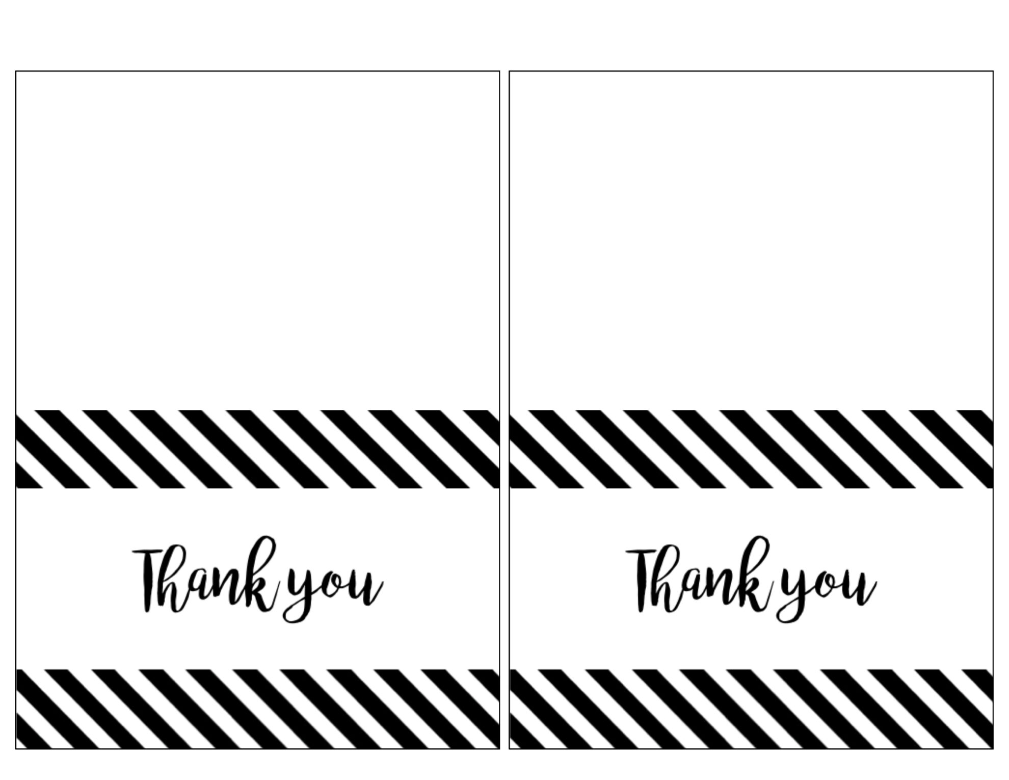 Free Thank You Cards Print {Free Printable Black and White