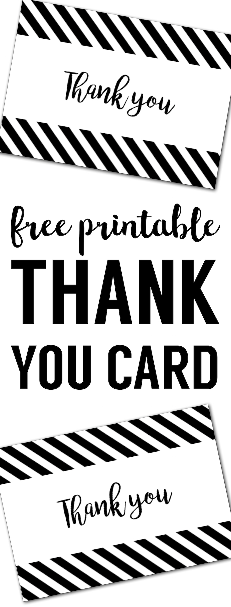 image about Free Printable Black and White Images known as Free of charge Thank Oneself Playing cards Print Cost-free Printable Black and White