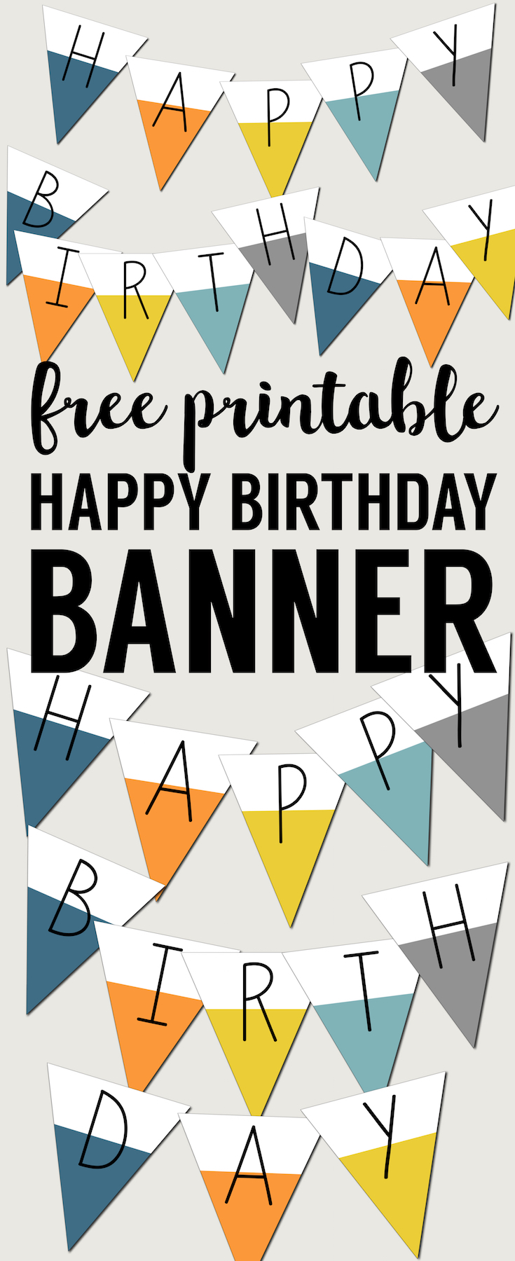 picture about Happy Birthday Sign Printable identified as Absolutely free Printable Content Birthday Banner - Paper Path Structure