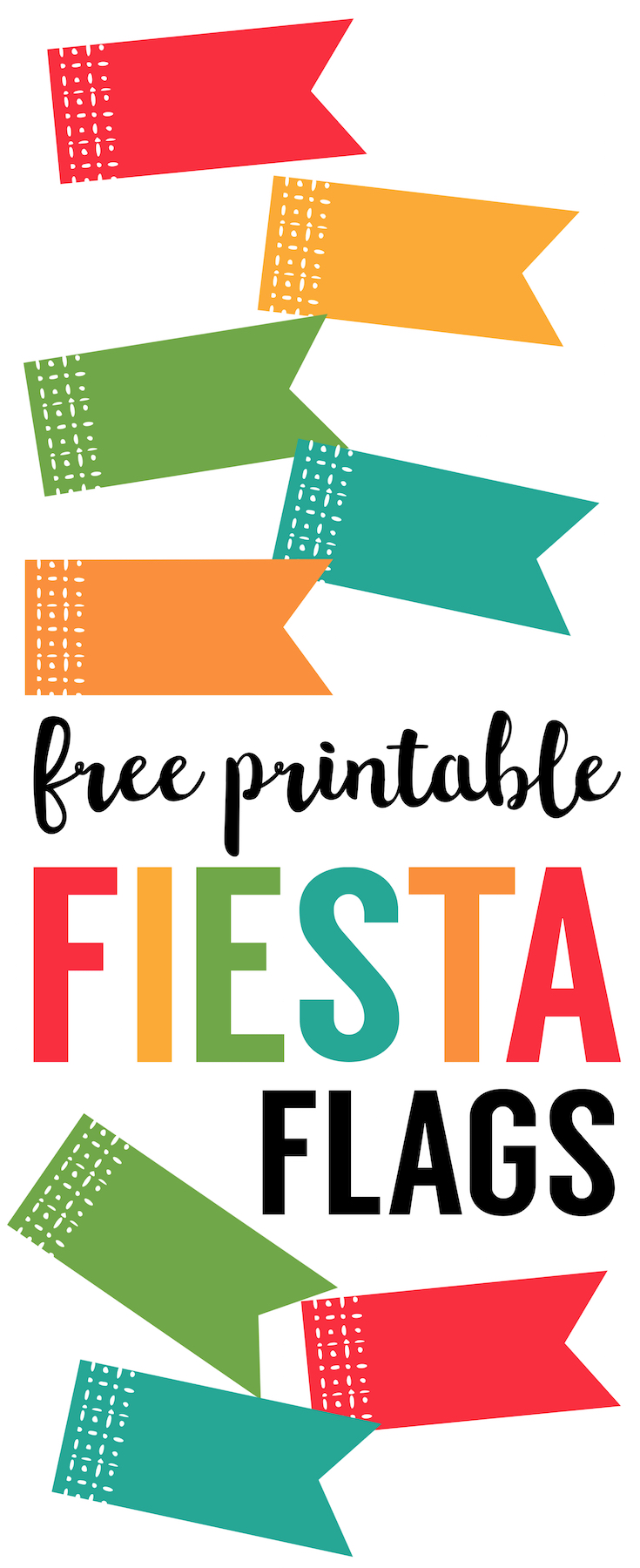 Fiesta Cupcake Toppers free printable flags. Fiesta party decor. DIY Cinco de Mayo cupcake toppers. Cinco de Mayo decorations. DIY Fiesta Party decorations.