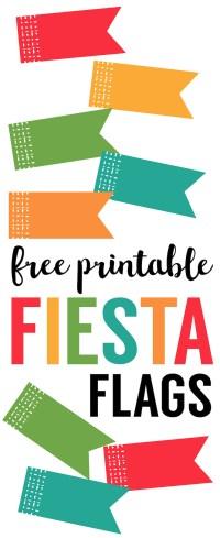 Fiesta Cupcake Toppers {Free Printable Flags} - Paper ...