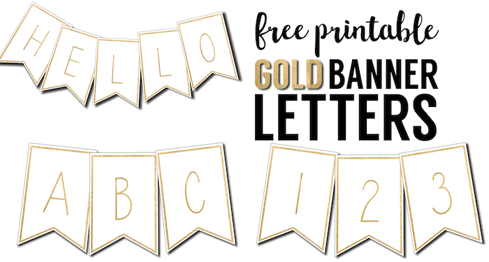 graphic relating to Free Printable Letter Templates titled Totally free Printable Banner Letters Templates - Paper Path Design and style