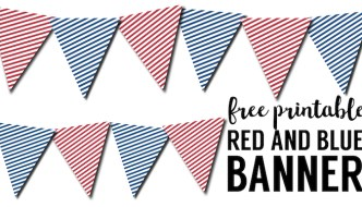 Red White Blue Pennant Banner Free Printable