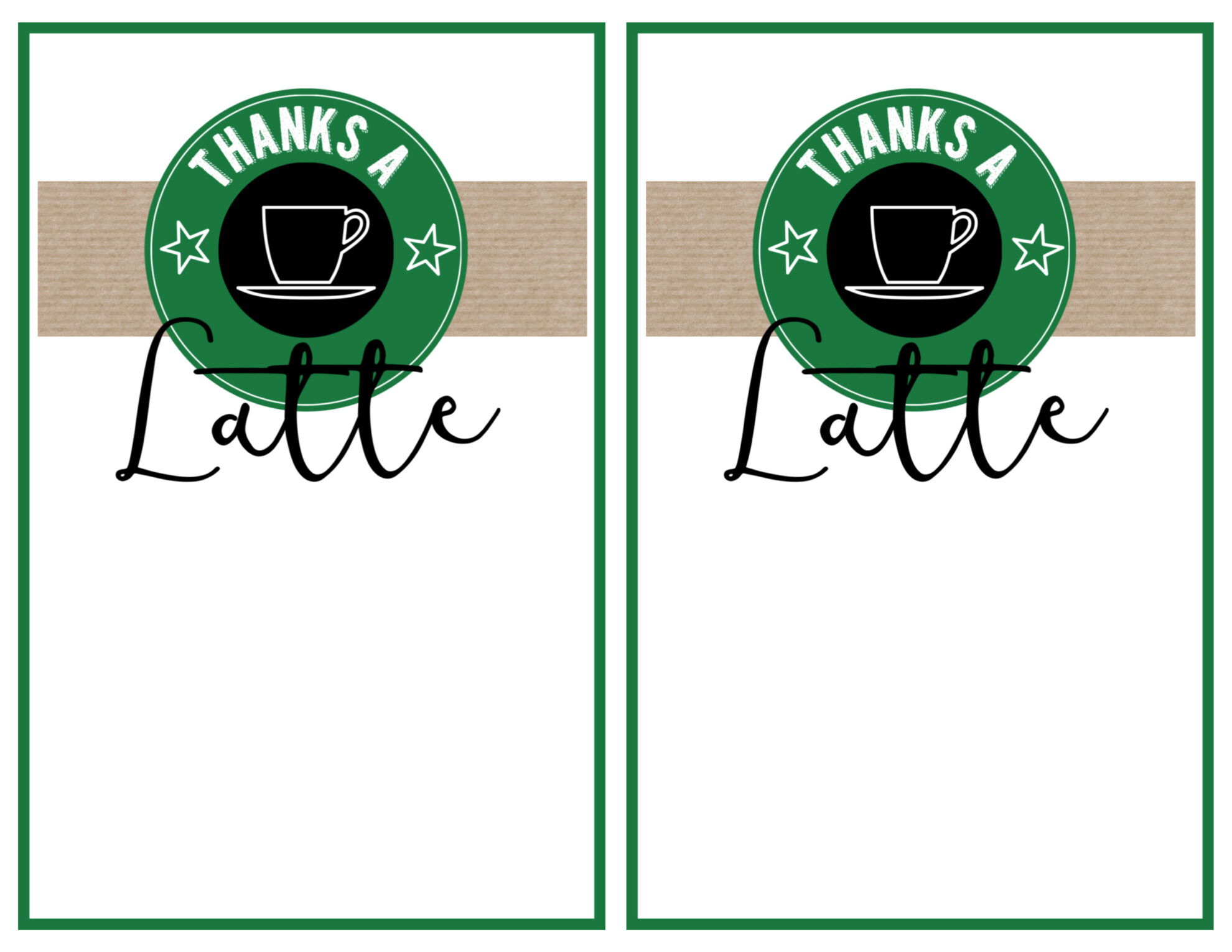 Starbucks Teacher Thank You Printable - Paper Trail Design