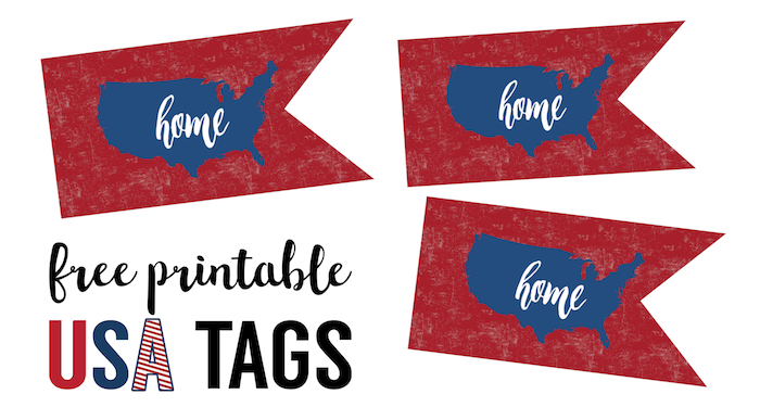 Fourth July Printable Decorations Paper Trail