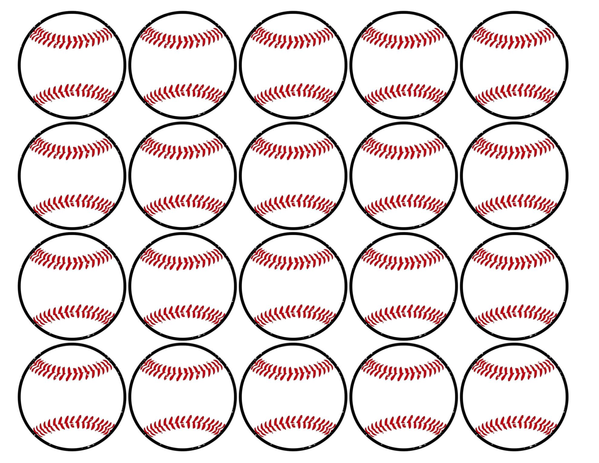 Baseball Cupcake Toppers Free Printable