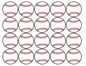 Baseball Cupcake Toppers Free Printable. Baseball or softball cupcake decorations for a baseball or softball birthday party or team party.