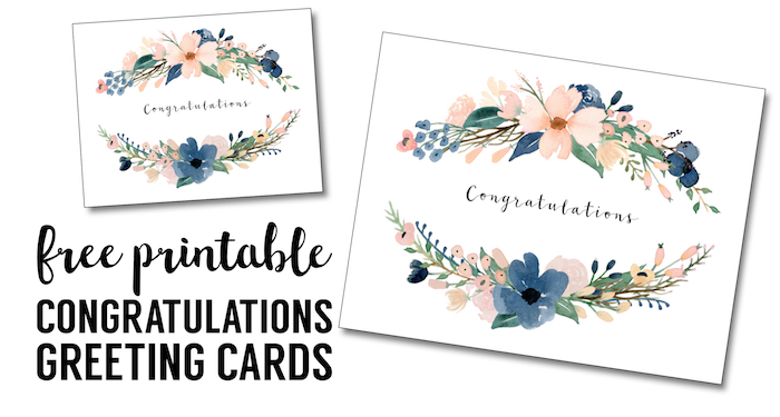 Congratulations Card Printable Free Printable Greeting