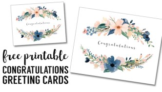 Congratulations Card Printable {free printable greeting cards}