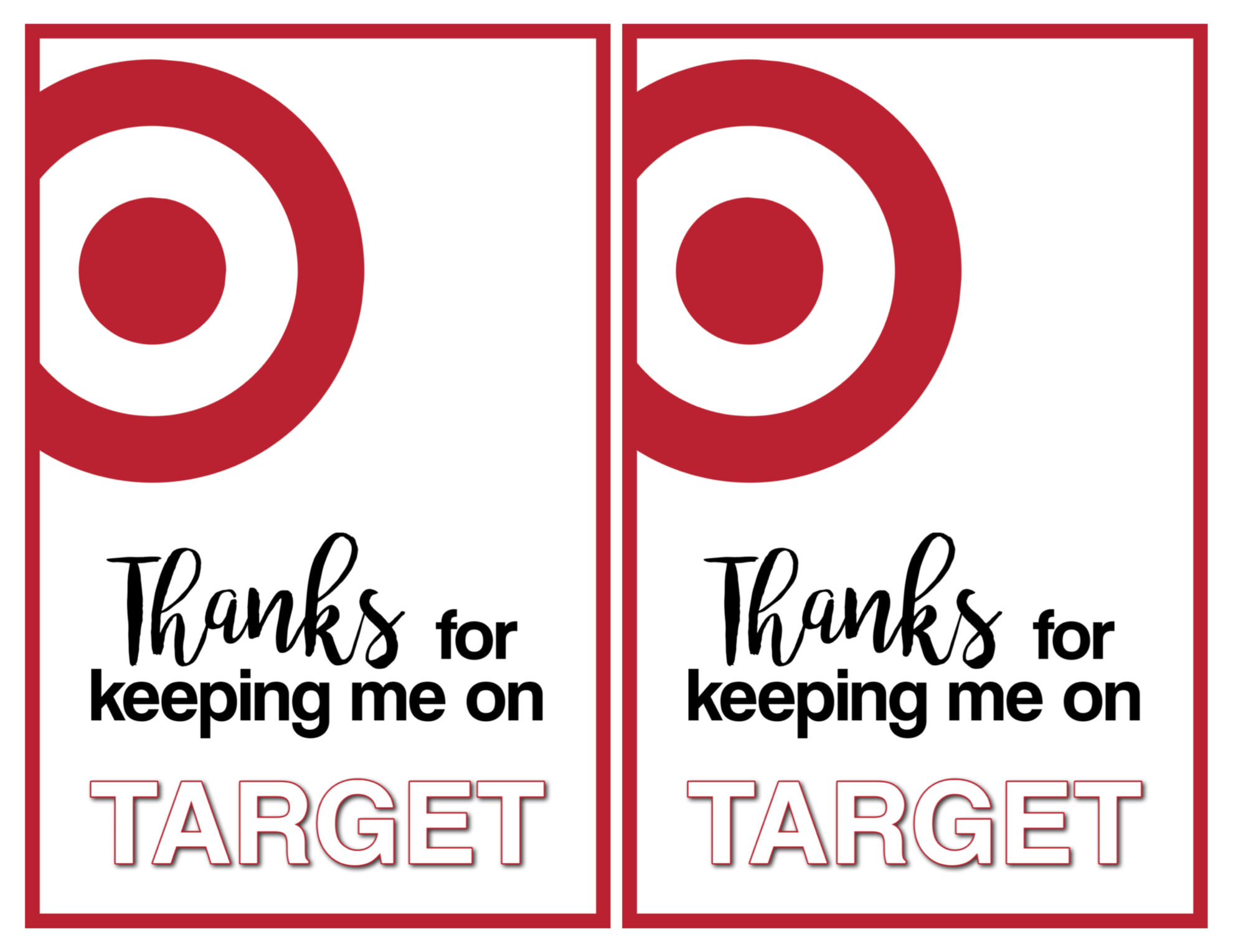Target Thank You Cards Free Printable - Paper Trail Design