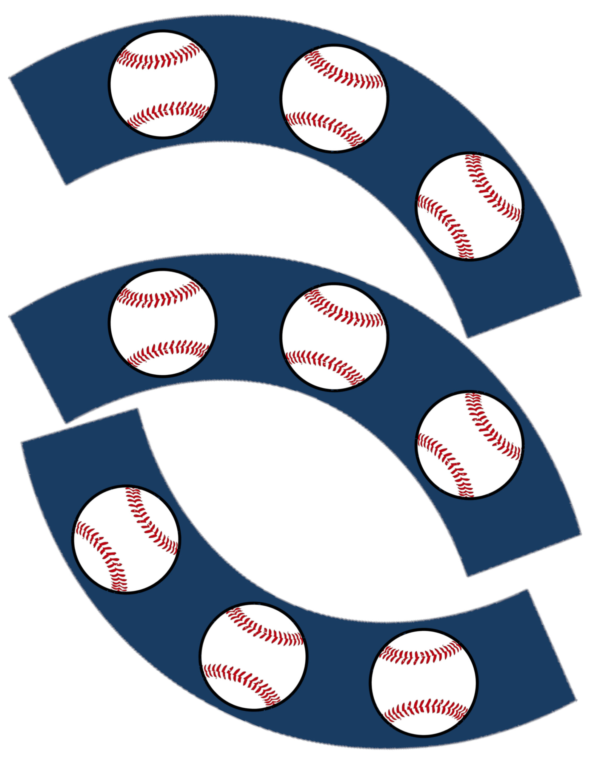 Baseball Cupcake Wrappers Free Printable - Paper Trail Design