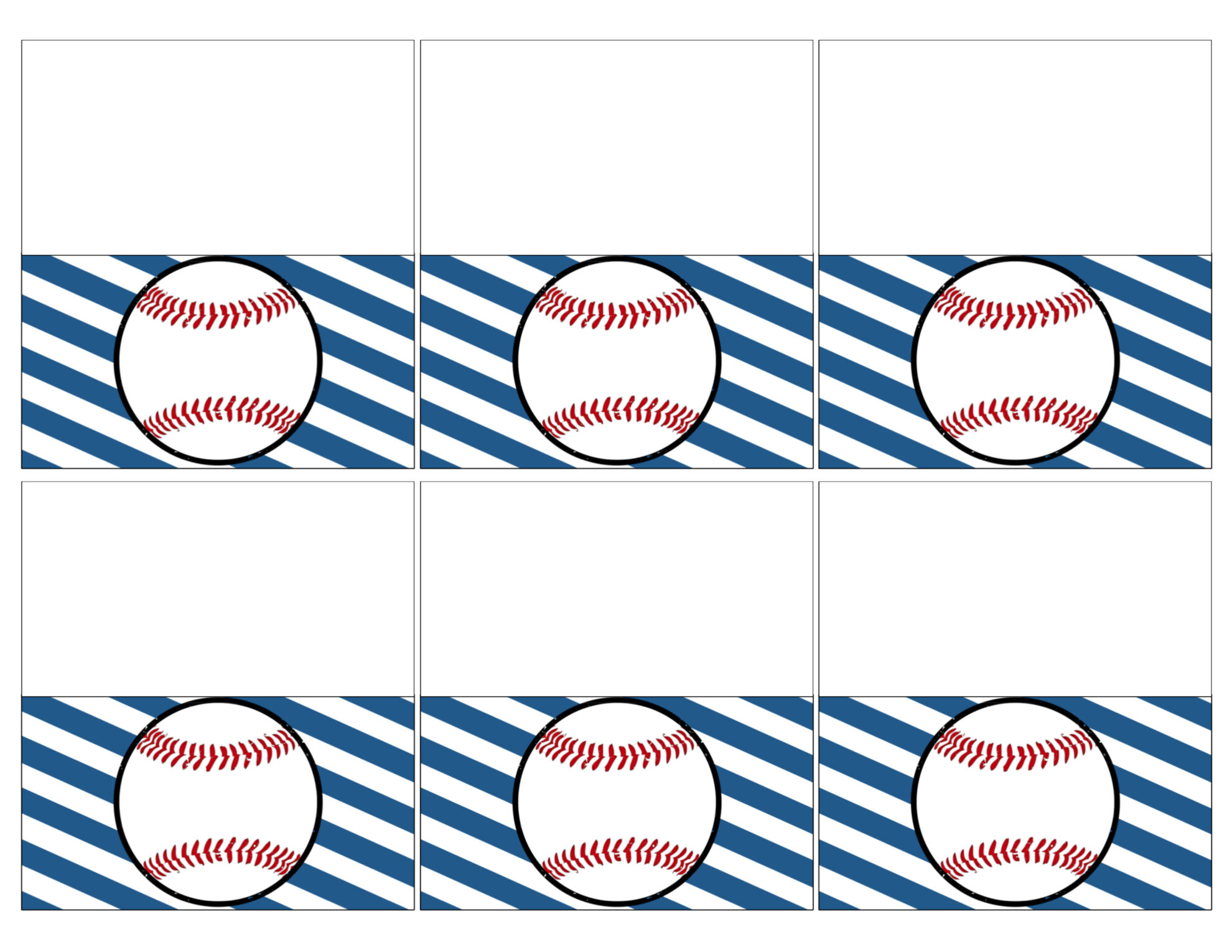 graphic about Free Printable Baseball Tags called Baseball Vacation spot Card Holders Cost-free Printable - Paper Path Style and design
