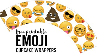 Emoji Cupcake Wrappers Free Printable. Emoji party printables for an emoji birthday party, emoji themed baby shower, bridal shower, or teen bedroom decorations.