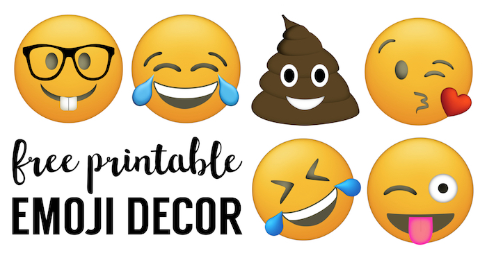 Emoji Faces Printable Party Decorations For A Birthday