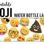 Emoji Water Bottle Labels Free Printable. Wrapper for beverages at an Emoji birthday party, baby shower, or bridal shower. Easy DIY emoji party decor.