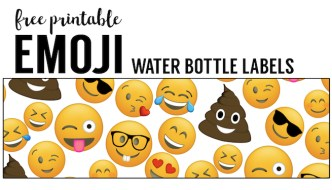 Emoji Water Bottle Labels Free Printable