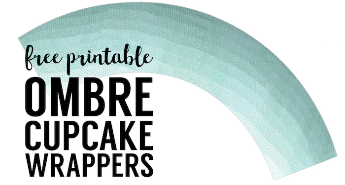 photo relating to Printable Cupcake Wrappers identified as Absolutely free Printable Cupcake Wrapper Template Ombre - Paper