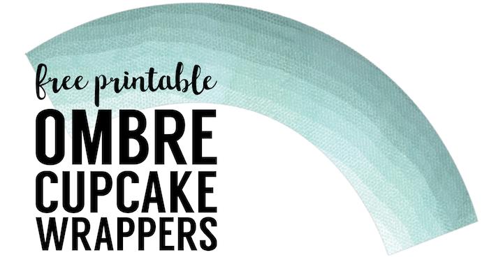 photo regarding Free Printable Cupcake Wrappers named Totally free Printable Cupcake Wrapper Template Ombre - Paper