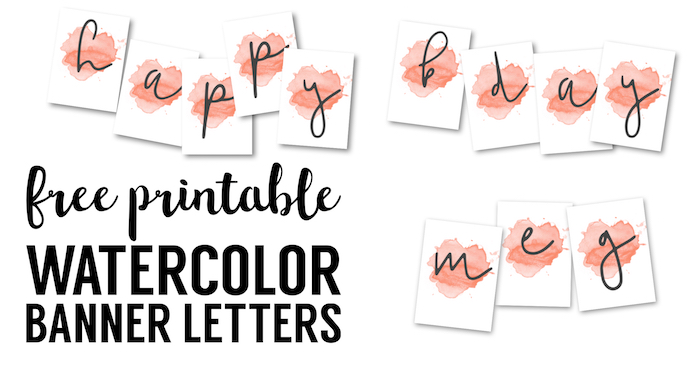 picture about Congratulations Banner Free Printable known as Coral Watercolor Banner No cost Printable - Paper Path Style