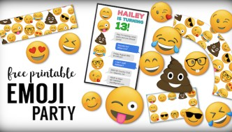 Emoji Free Printables {Emoji Birthday Party Supplies}