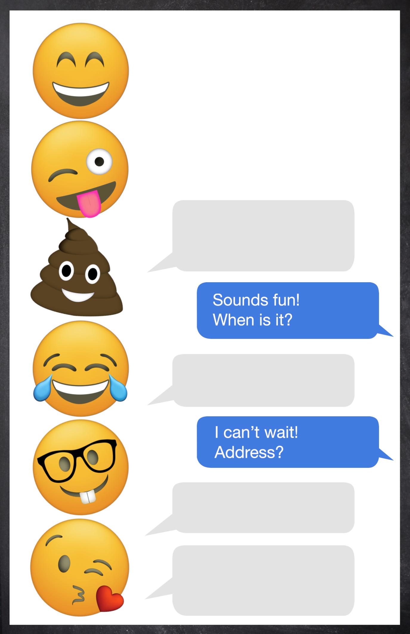 emoji birthday invitations free