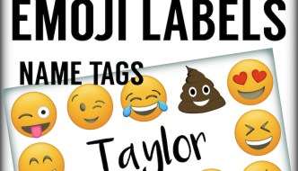 Emoji Labels, Emoji Place Cards, Emoji Food Labels