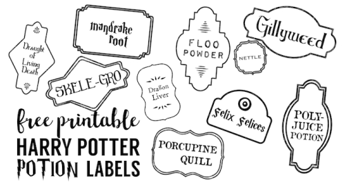 Harry Potter Banner Free Printable Decor - Paper Trail Design