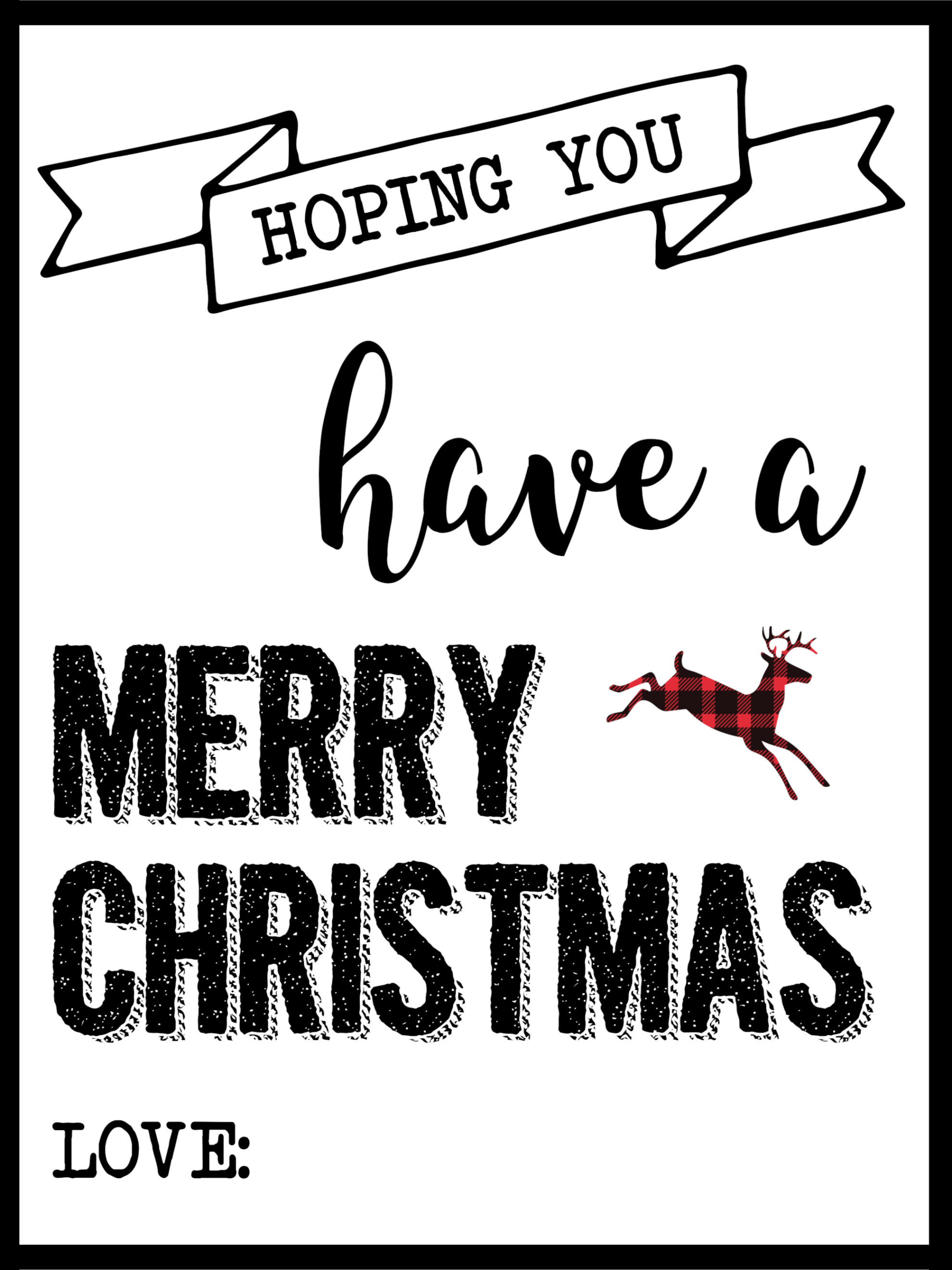 Christmas Labels Printable {Free Christmas Gift Tags Printable ...