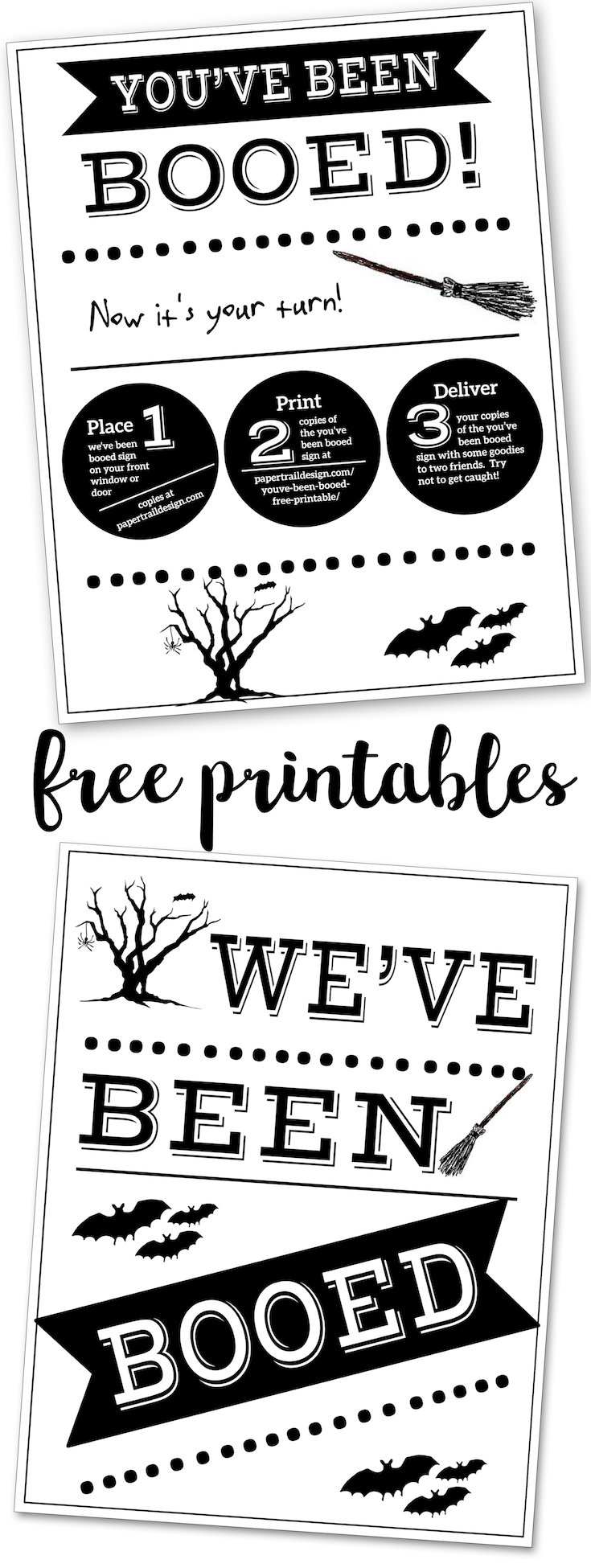 photo relating to You Ve Been Booed Free Printable named Youve Been Booed Free of charge Printable Indications - Paper Path Structure