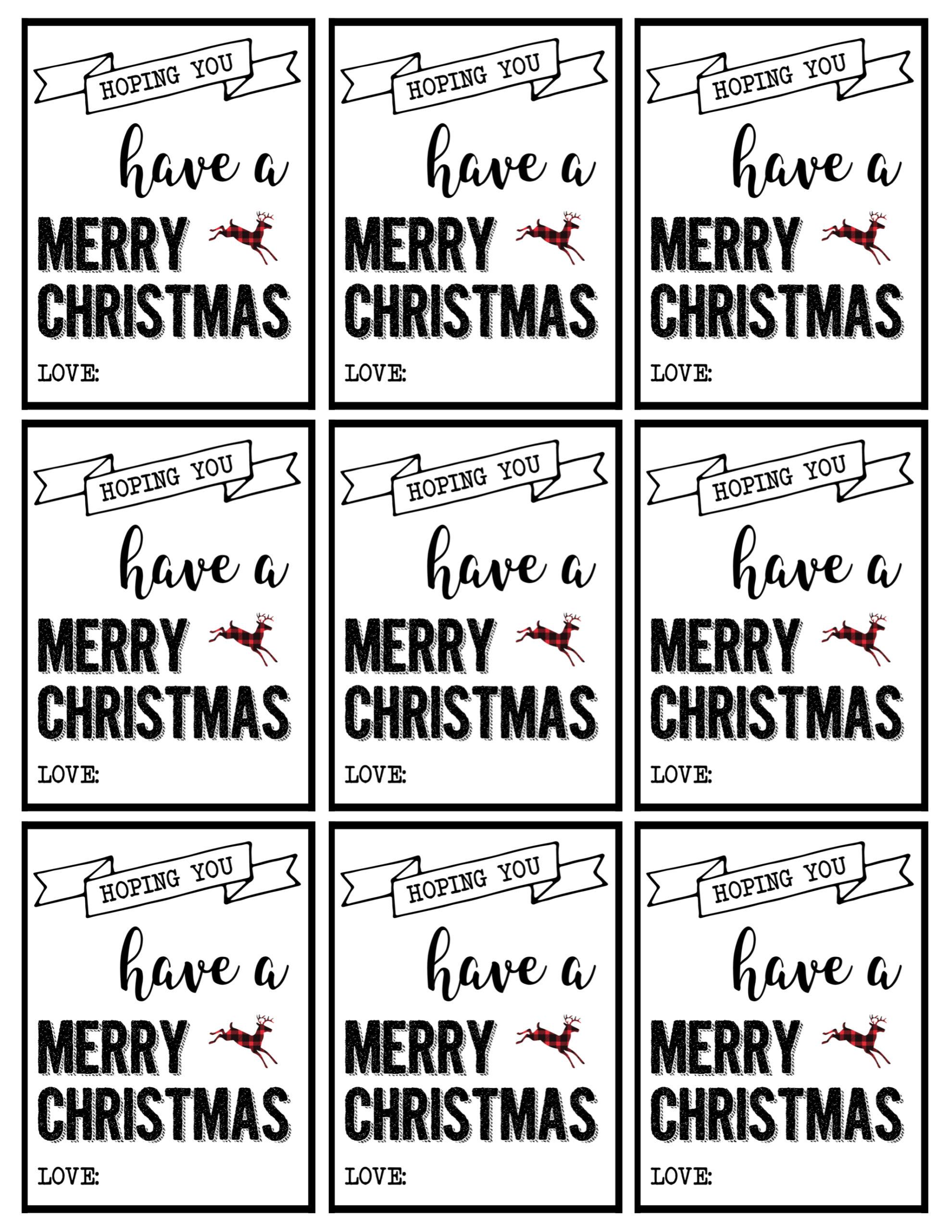 Christmas Labels Printable Free Christmas T Tags Printable