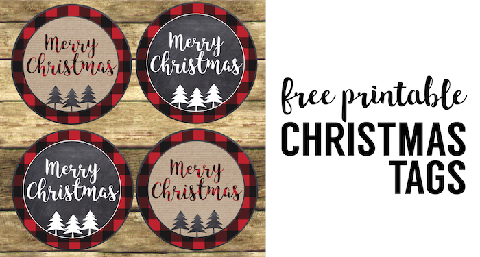photograph about Merry Christmas Tags Free Printable named Merry Xmas Tags Printable - Paper Path Style