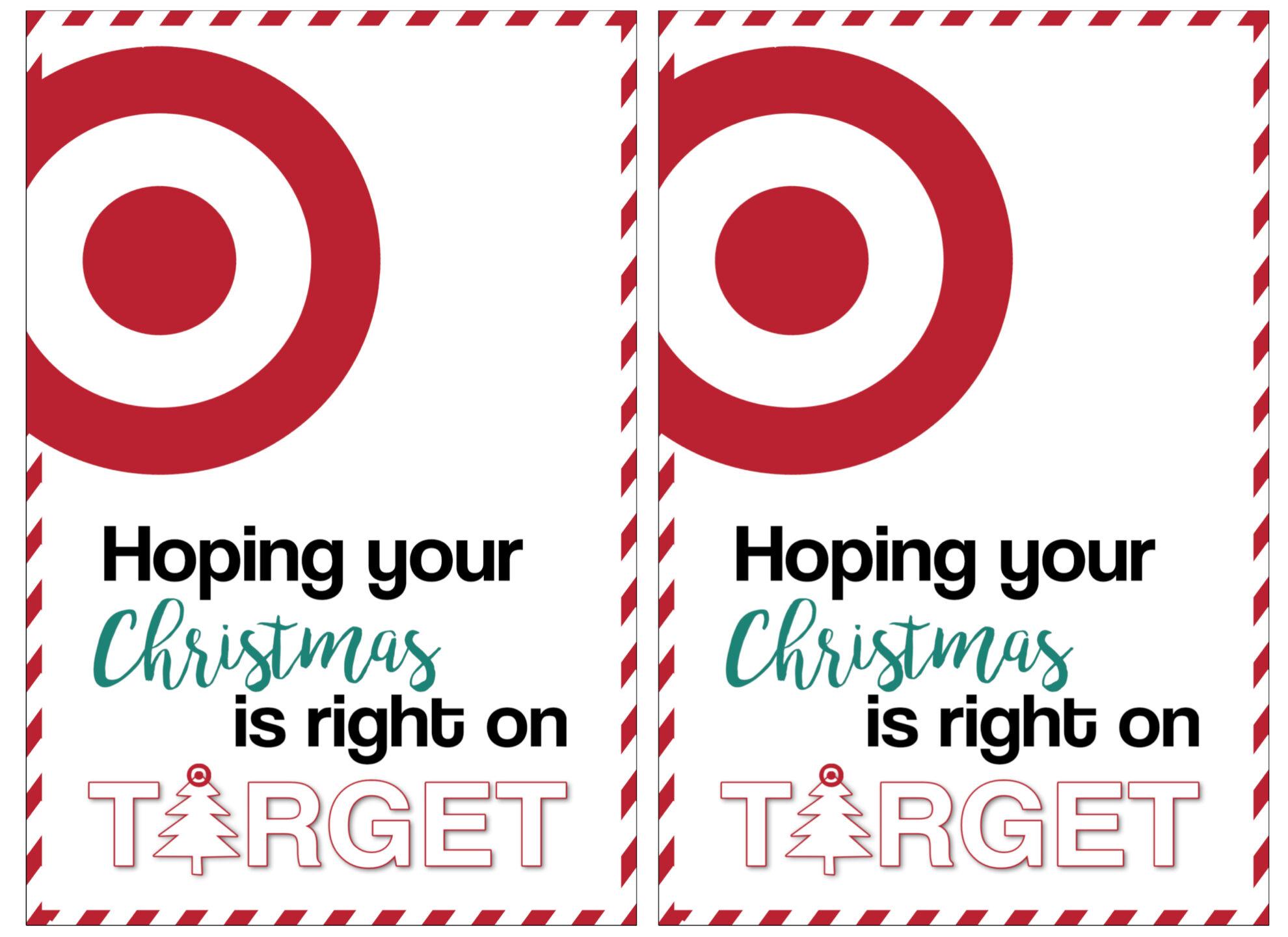 Target Christmas Gift Card Holders {Teachers, Friends, Neighbors ...