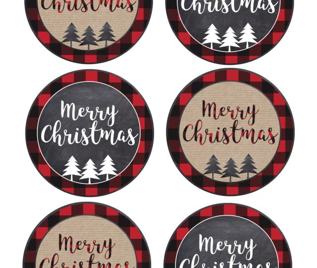 Christmas Gift Tags Printables Large