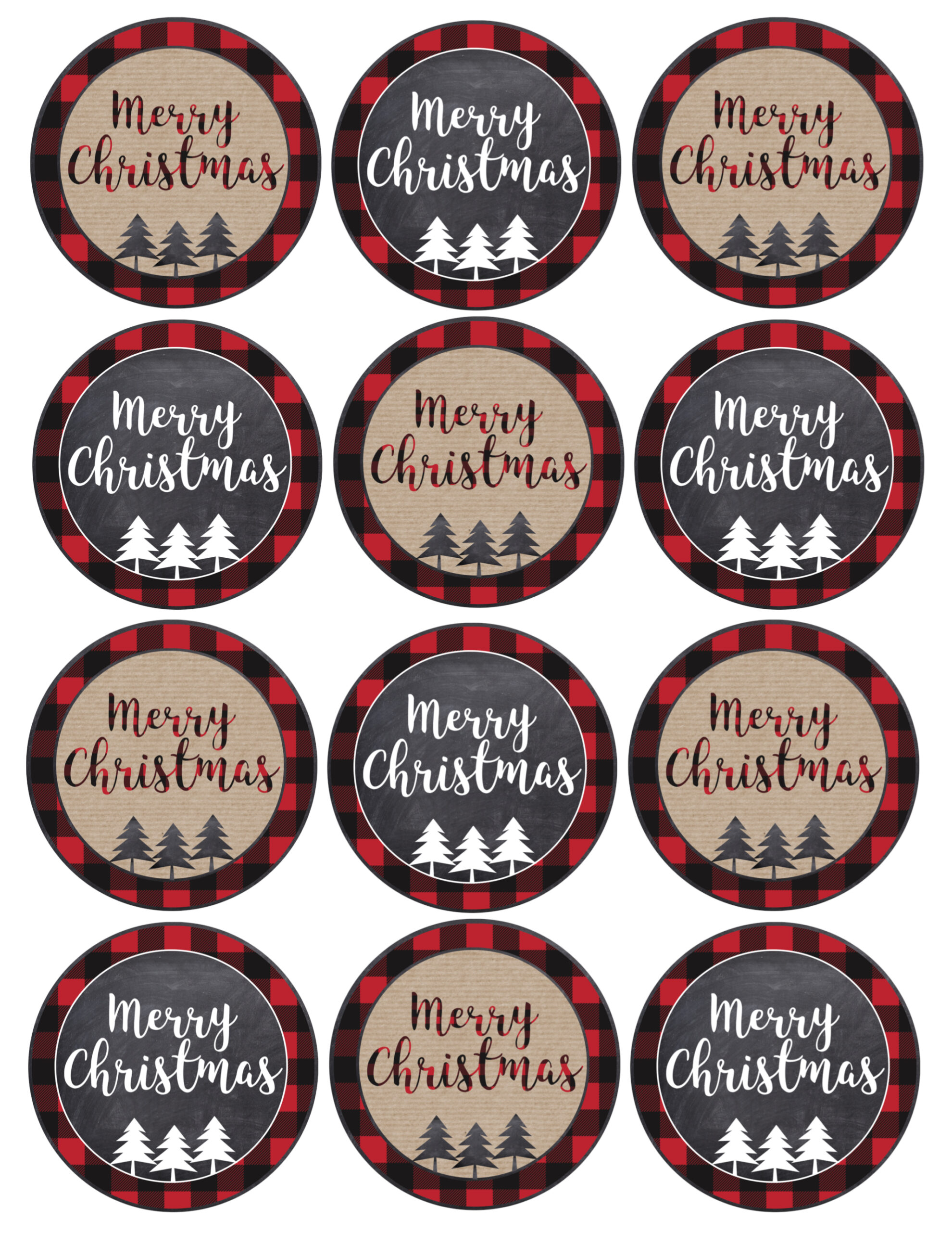 This is a picture of Wild Merry Christmas Tags Printable