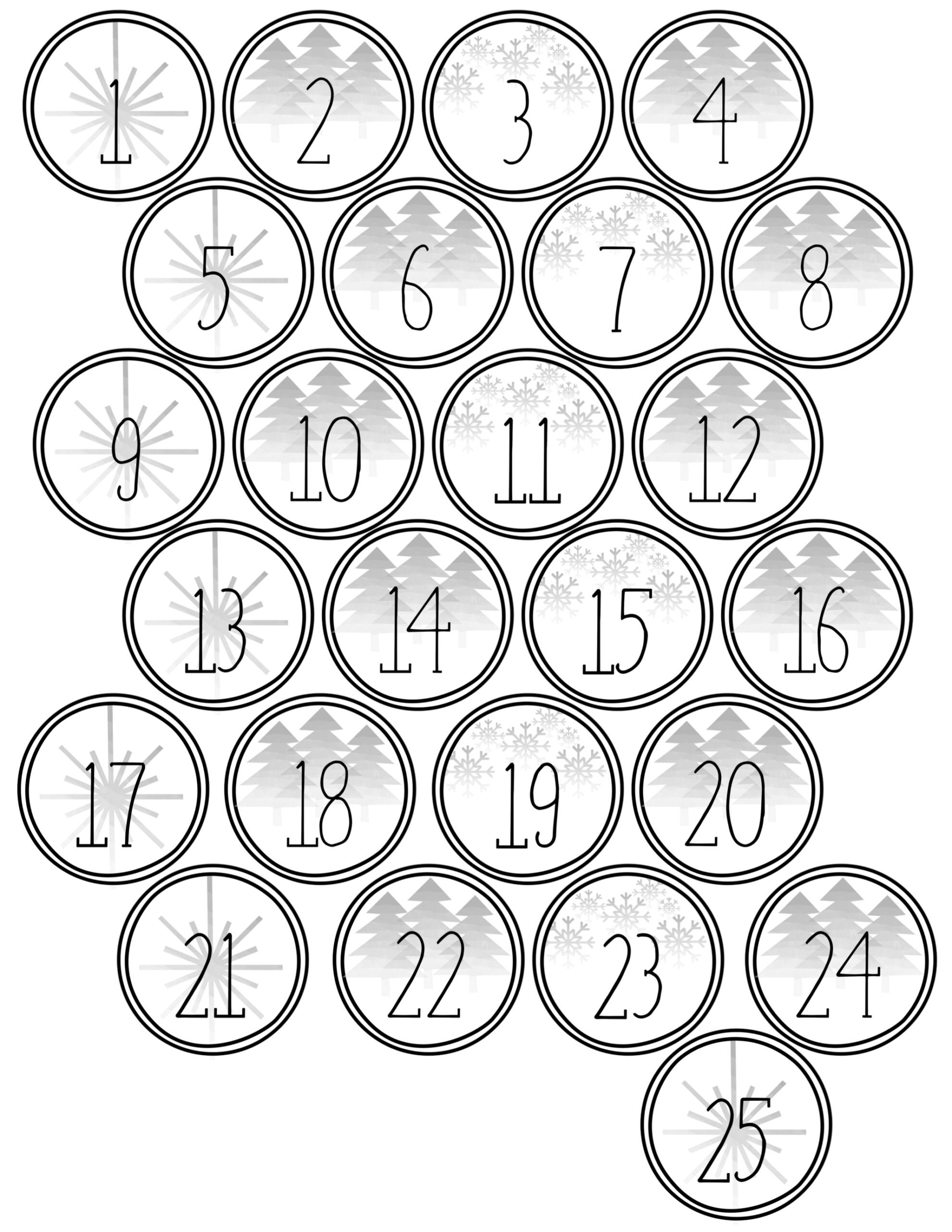 Christmas advent calendar printable numbers paper trail design advent calendar printable numbers christmas diy advent calendar template free printable christmas advent calendar tree saigontimesfo