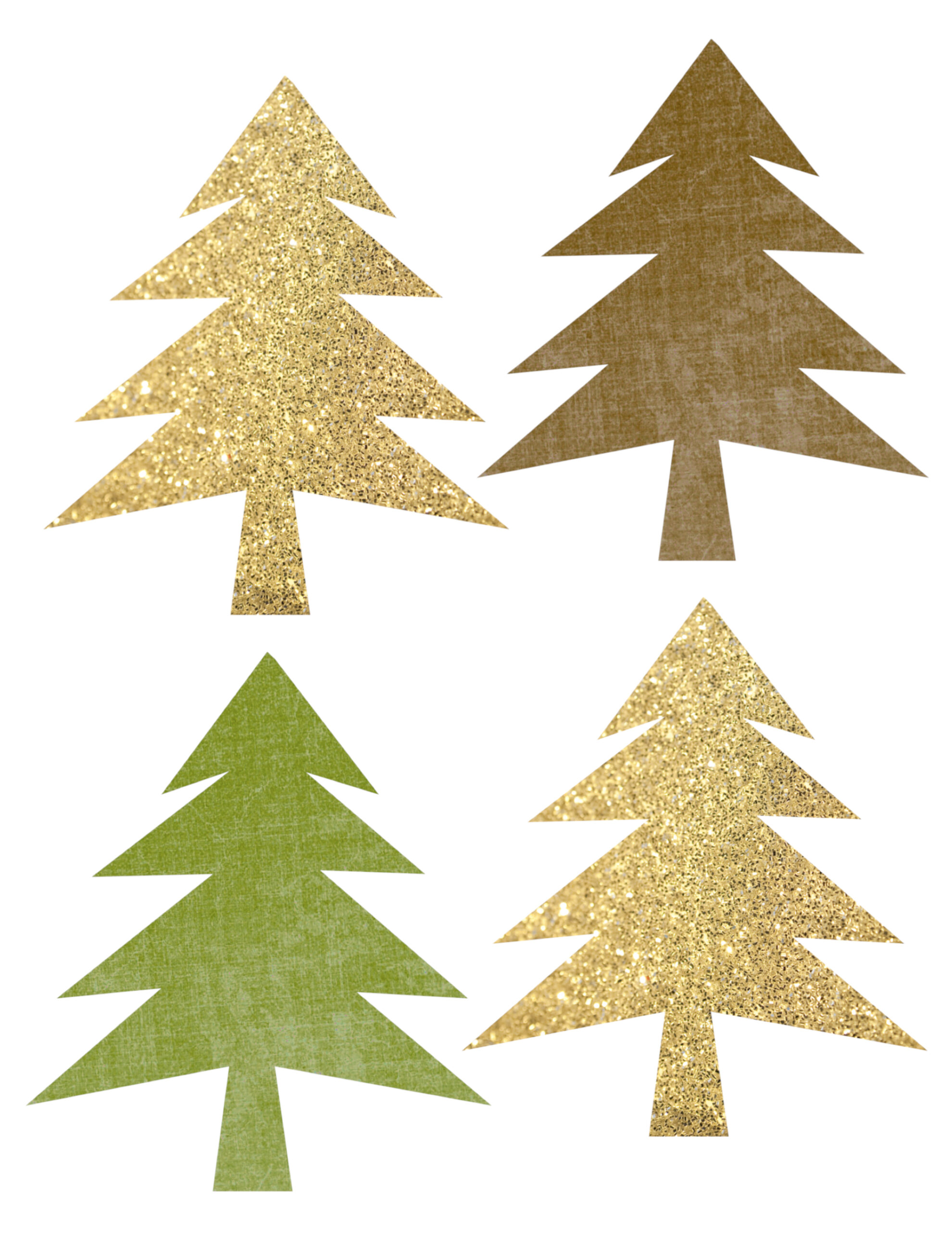 Woodland Tree Garland Free Printable Banner