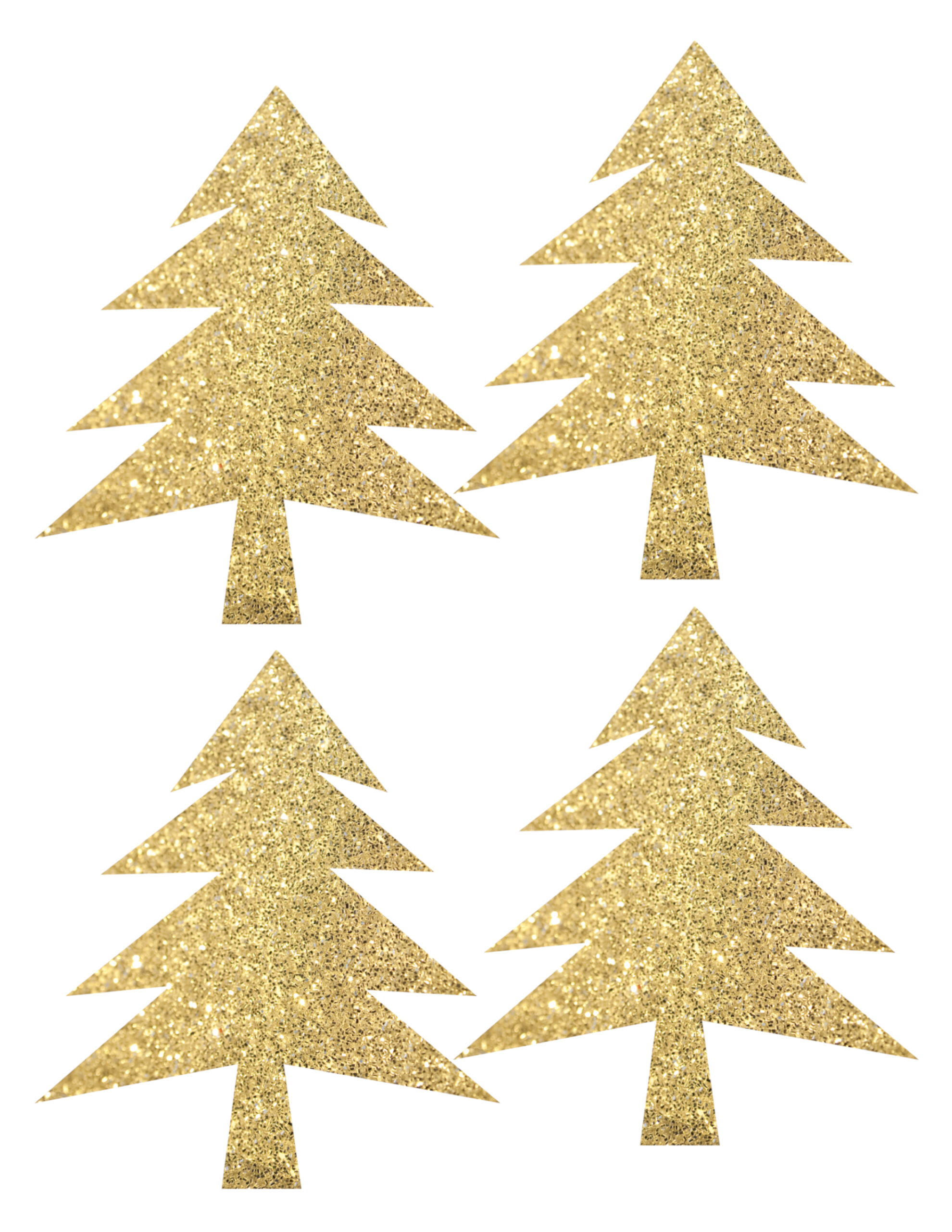 woodland tree garland free printable banner gold green and brown easy diy tree