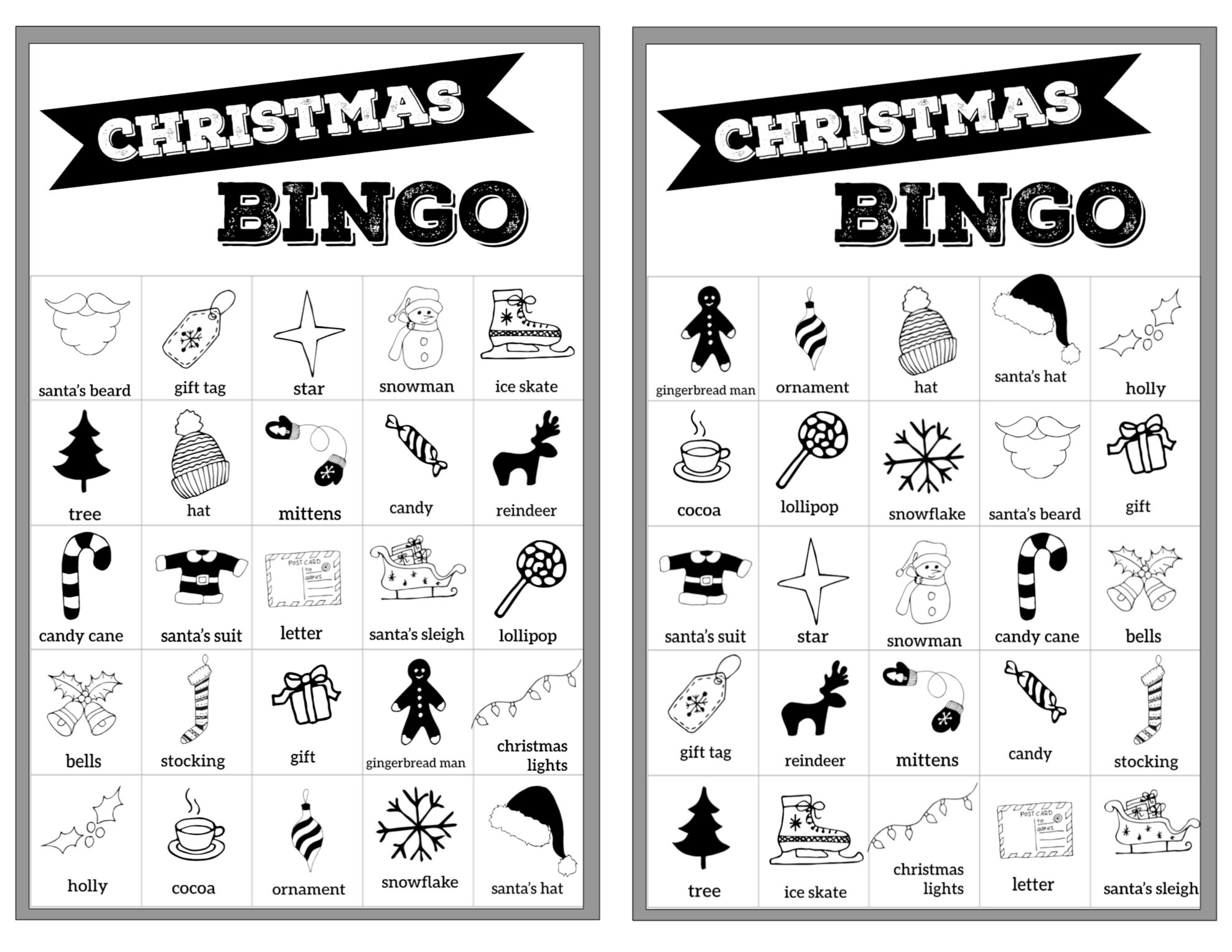 Wild image with regard to free printable christmas bingo cards