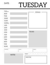 Daily Planner Printable Template Sheets. Free daily planner pages to build your own organizer or just keep a to-do list for the day. #papertraildesign #dailyplanner #organizer #keepyourgoals