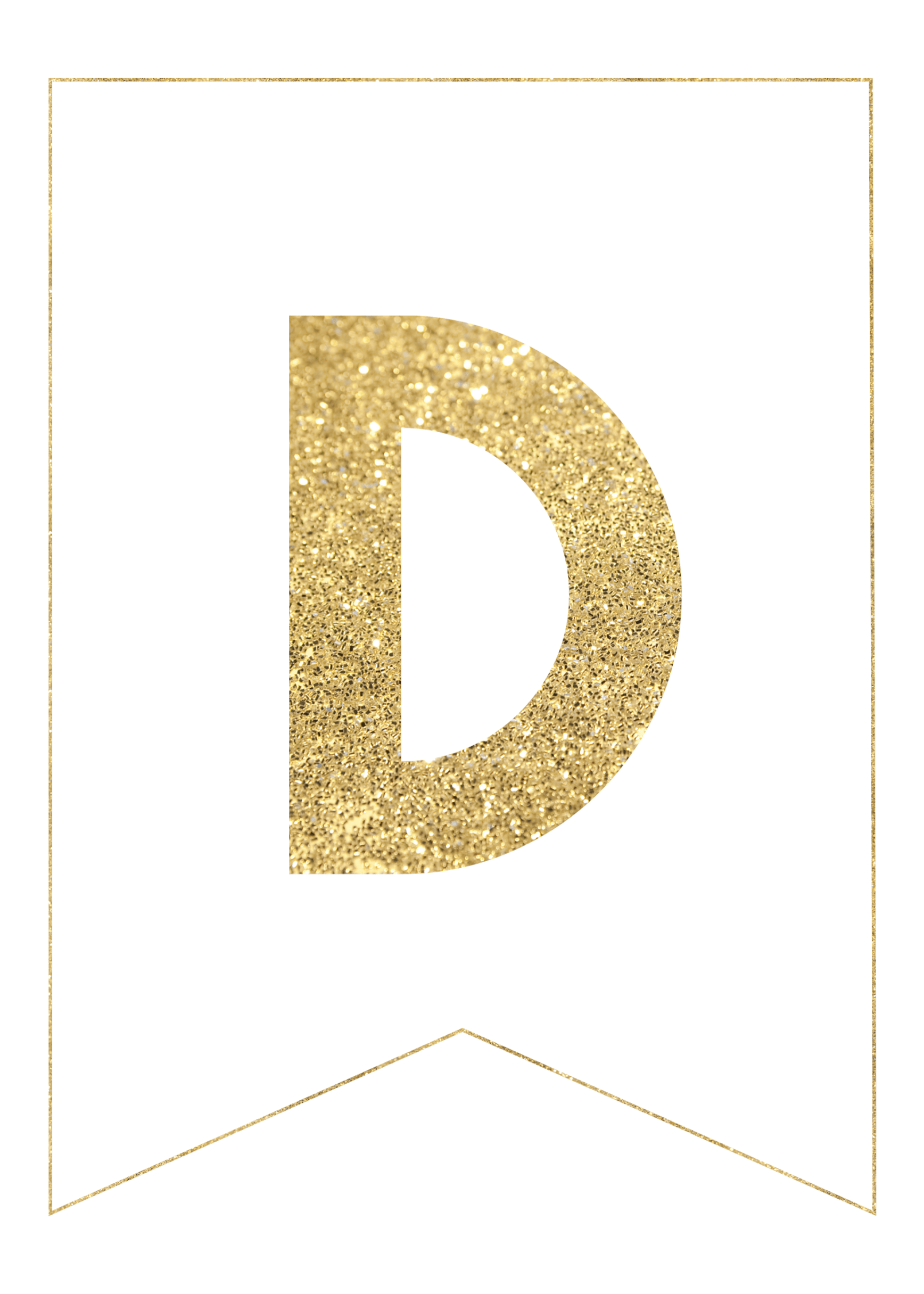 photo regarding Free Printable Alphabet Letters for Banners titled Gold Free of charge Printable Banner Letters - Paper Path Layout