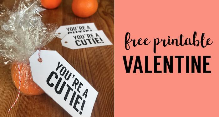 Free Valentine Cards Printable Cutie Tag
