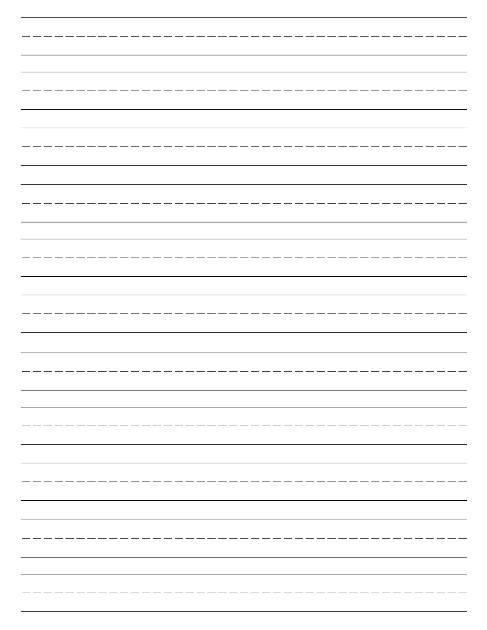 Blank Handwriting Worksheet Print